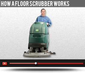 How a floor scrubber works
